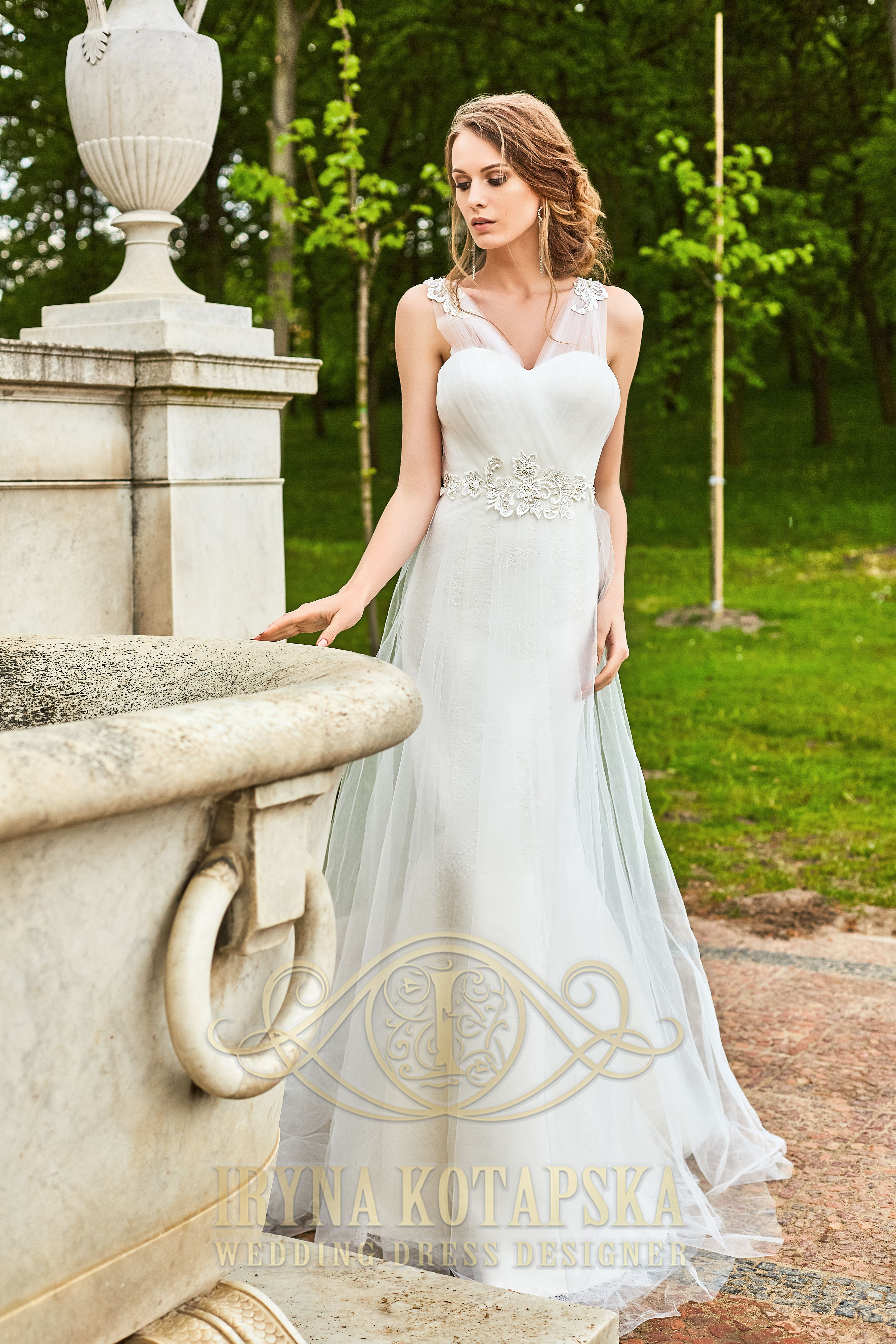 Elegant fitted wedding dresses  This figure flattering fit and flare wedding dress is every brides