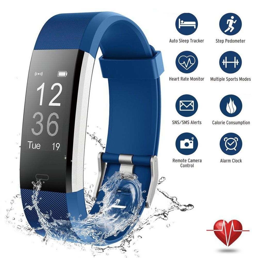 Fitness activity tracker watch waterproof steps sleep