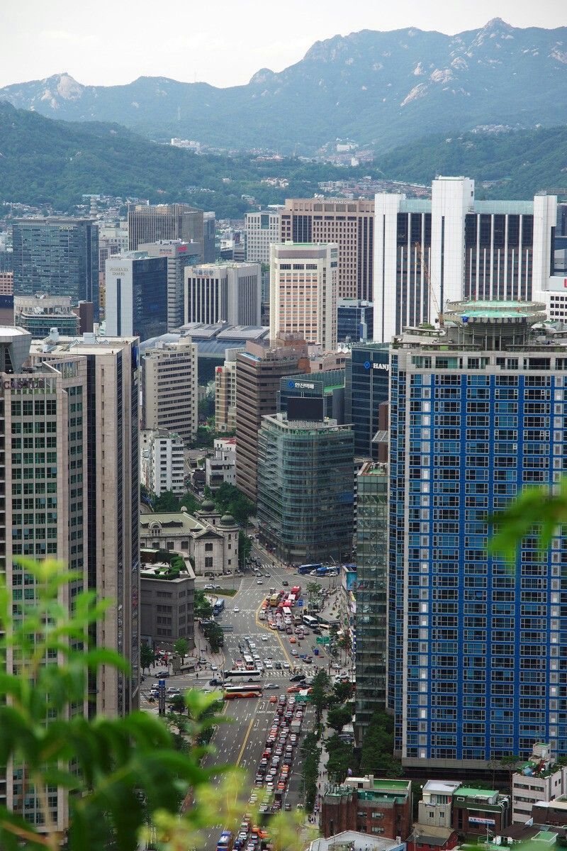 Seoul Korea 2003 Seoul Skyline San Francisco Skyline Seattle Skyline