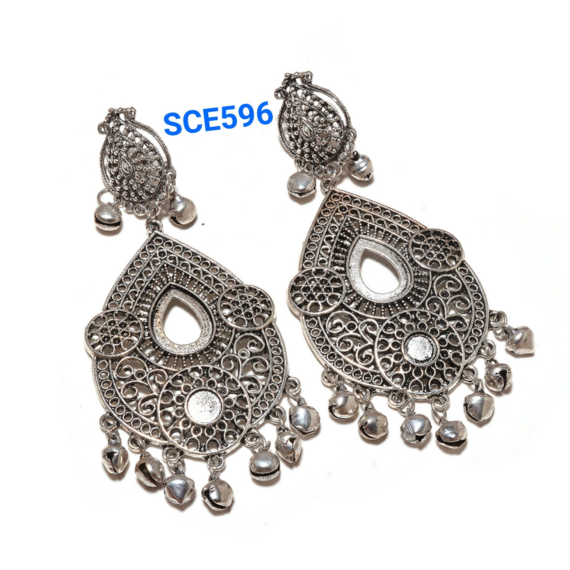Chandelier Earrings Dangle Drop Hoop Boho Silver