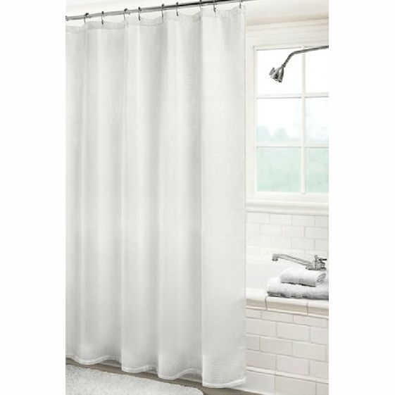 Hotel Collection White Waffle Weave Shower Curtain Waffle Weave