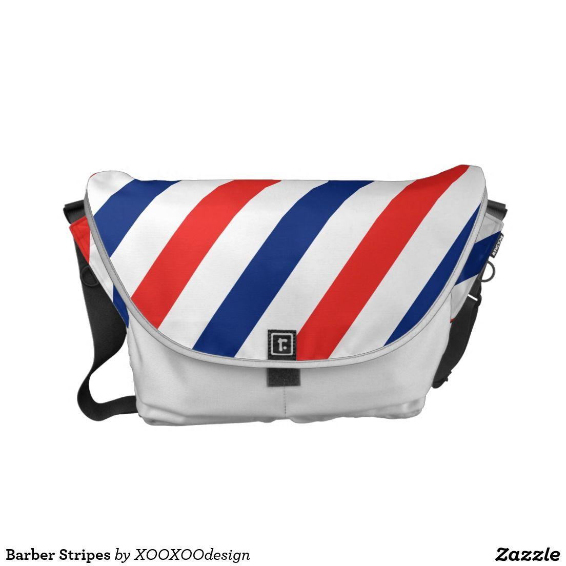 Barber Stripes Messenger Bag