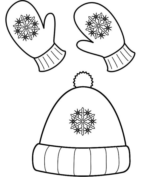Winter Clothing Winter Season Hat And Mittens In Winter