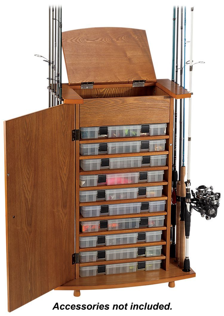 Browning Fishing Rod Storage Cabinet | Outdoor gear, Storage ...