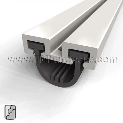 Door Sweep Mortised Aluminum Track With 25 Neoprene Seal Door Sweep Doors Sliding Doors