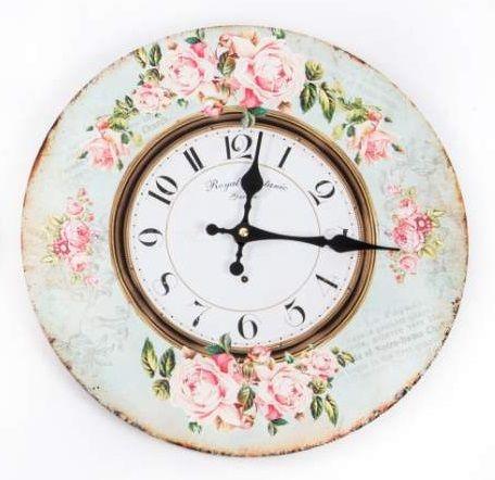 Reloj de pared vintage decoupage relojes de pared - Relojes decorativos pared ...