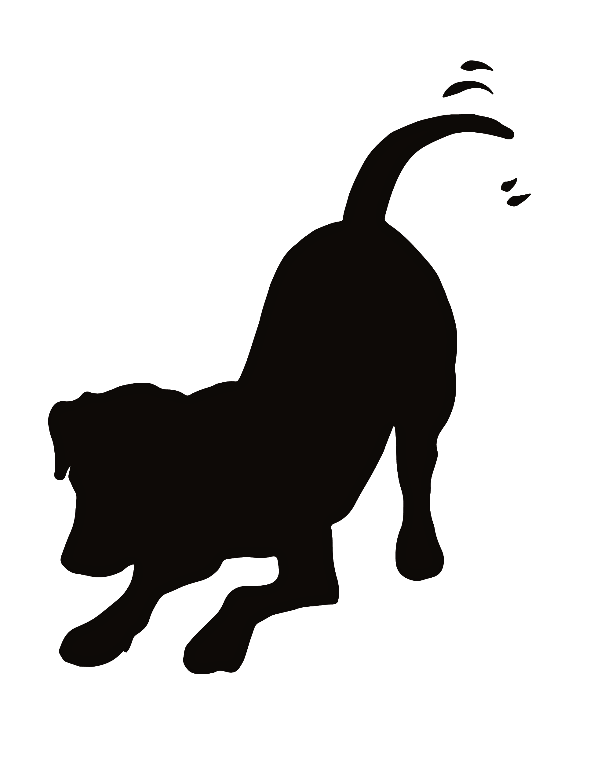 Clip Art Of Dogs Cats Puppies And Kittens Dog Clip Art Animal Silhouette Dog Silhouette