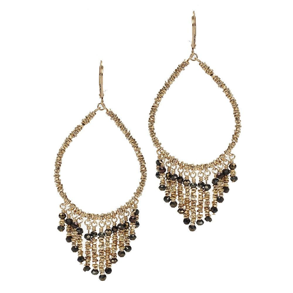 Golden Fringe Earrings - Dana Kellin - Fashion Jewelry ...