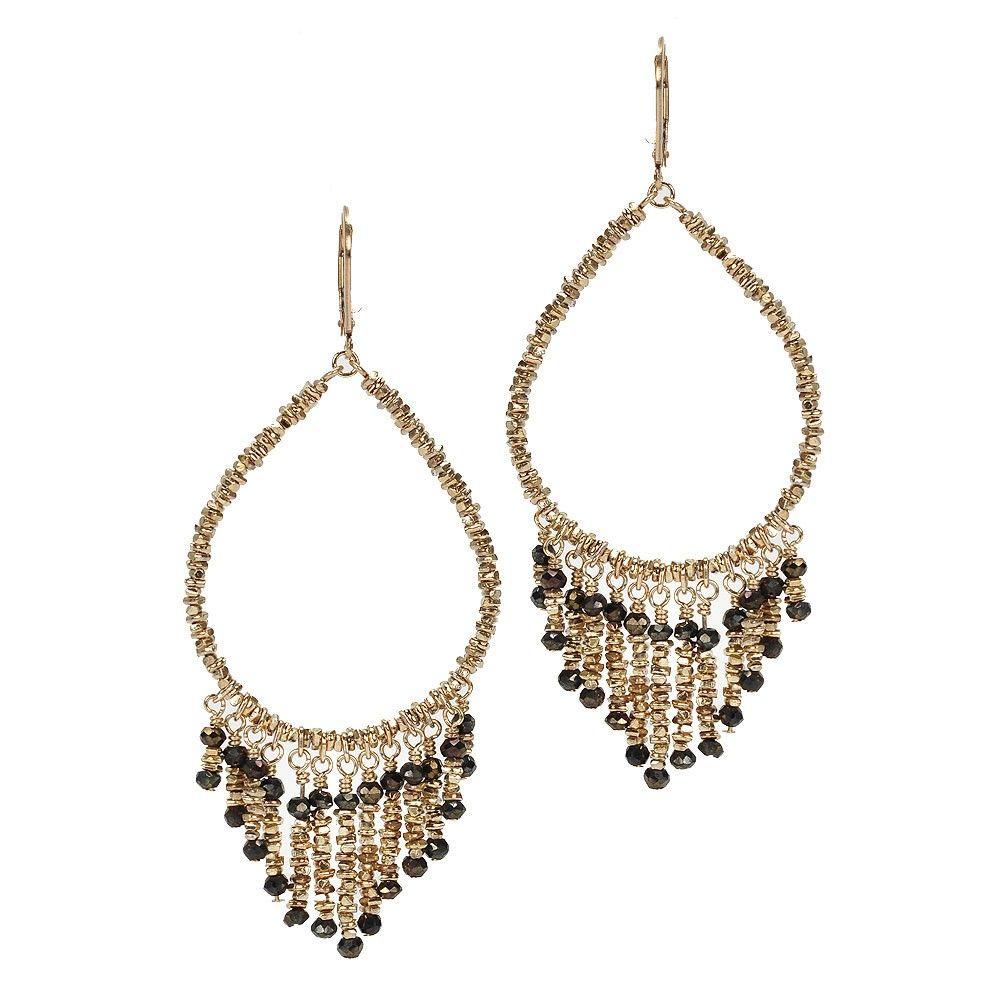 Golden Fringe Earrings - Dana Kellin - Fashion Jewelry ...