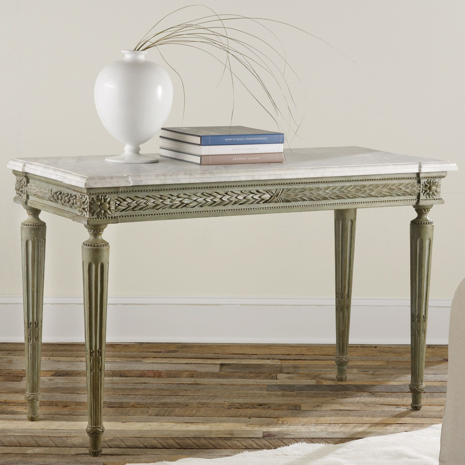 Modern History Home Carved and Painted Console Table LaylaGrayce