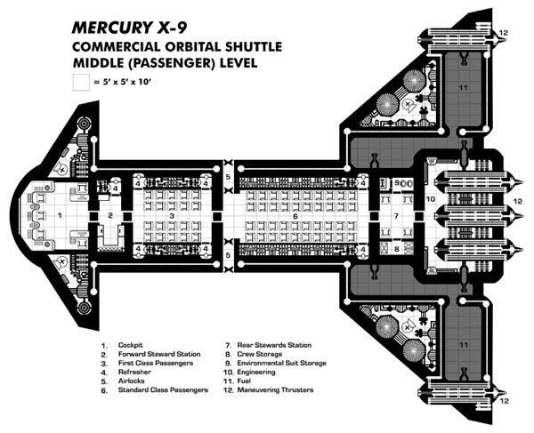 Mercury X-9 - Middle Deck   Traveller   Pinterest   RPG, Sci fi and ...