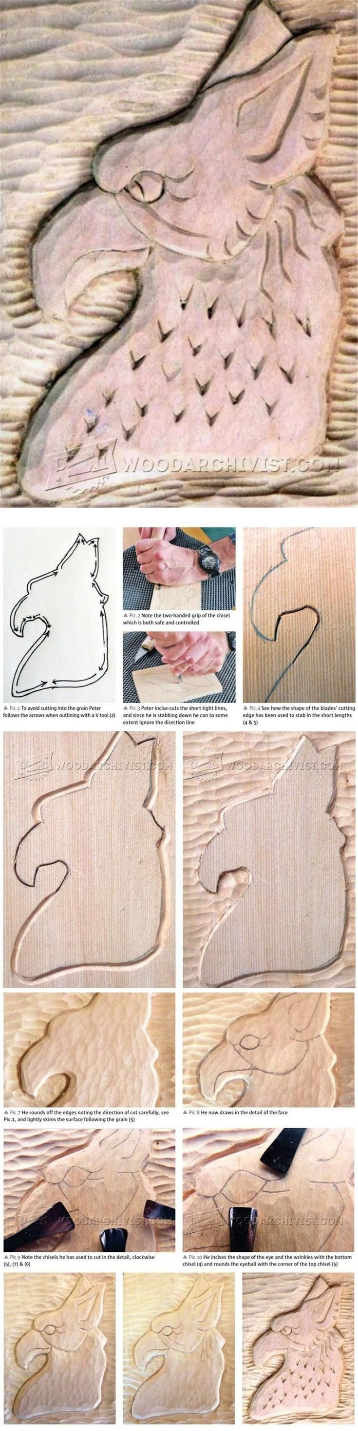 Relief Carving Techniques - Wood Carving Patterns and Techniques | WoodArchivist.com