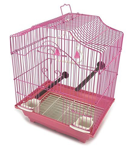 Bird Cage Kit Pink Starter Set Perches Swing Feeders Scalloped Top Small Bird Be Sure To Check Out This Awesome Produ Small Bird Cage Small Birds Bird Cage