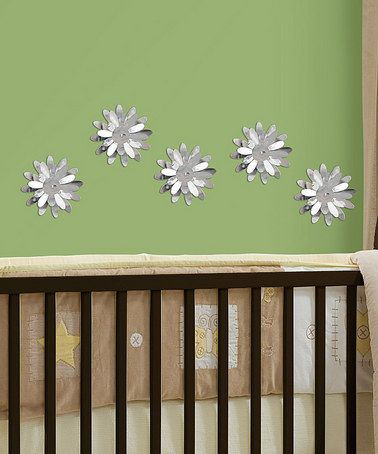 Take a look at this 3-D Flower Mirror Wall Decal Set by WallPops! on #zulily today!