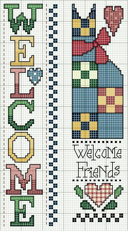 Welcome cross stitch