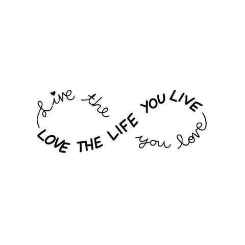 Tattoo Lettering Design Professional Custom Tattoo ... |Infinity Symbol Love Life