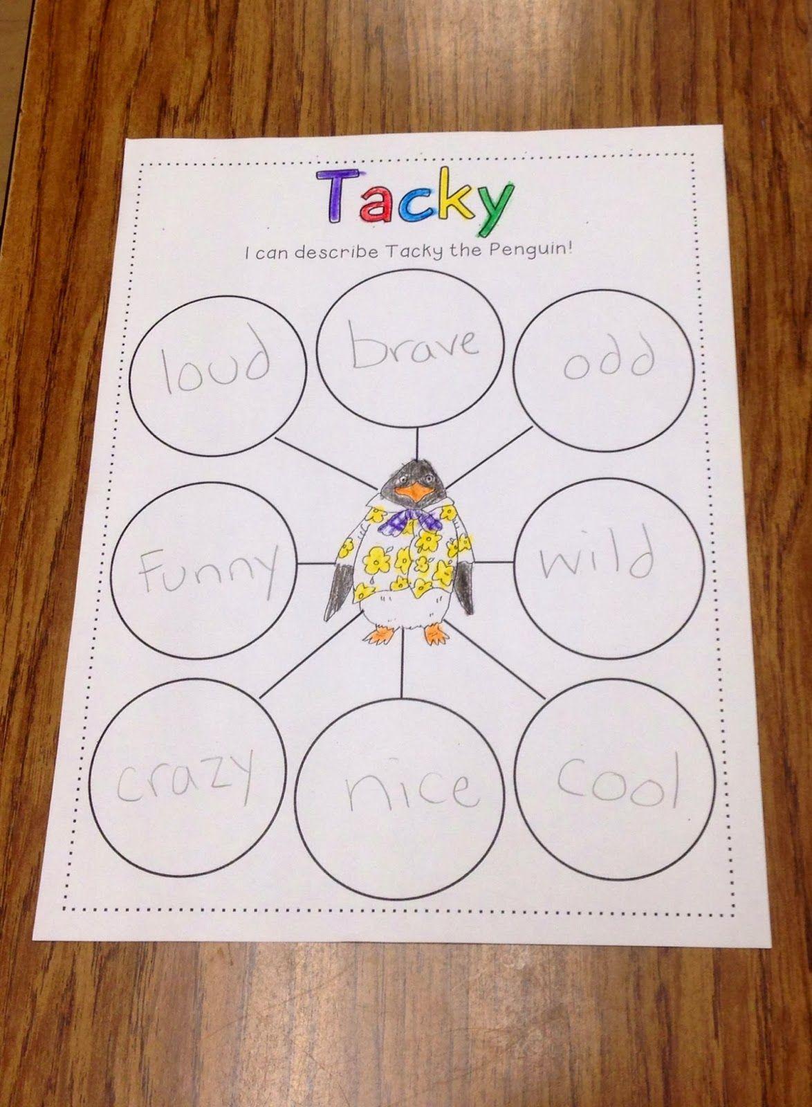 Tacky Penguin For Kindergarten Worksheet