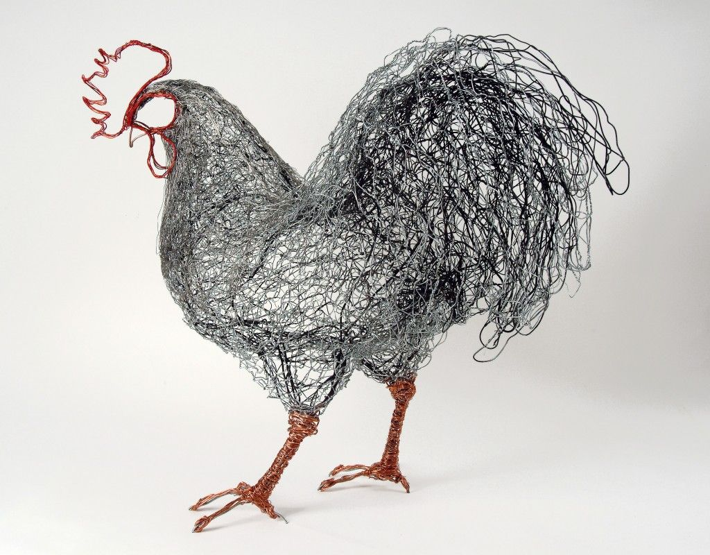 Sculpture Grillage A Poule celia smith – gallery wire chicken sculpture | wire art