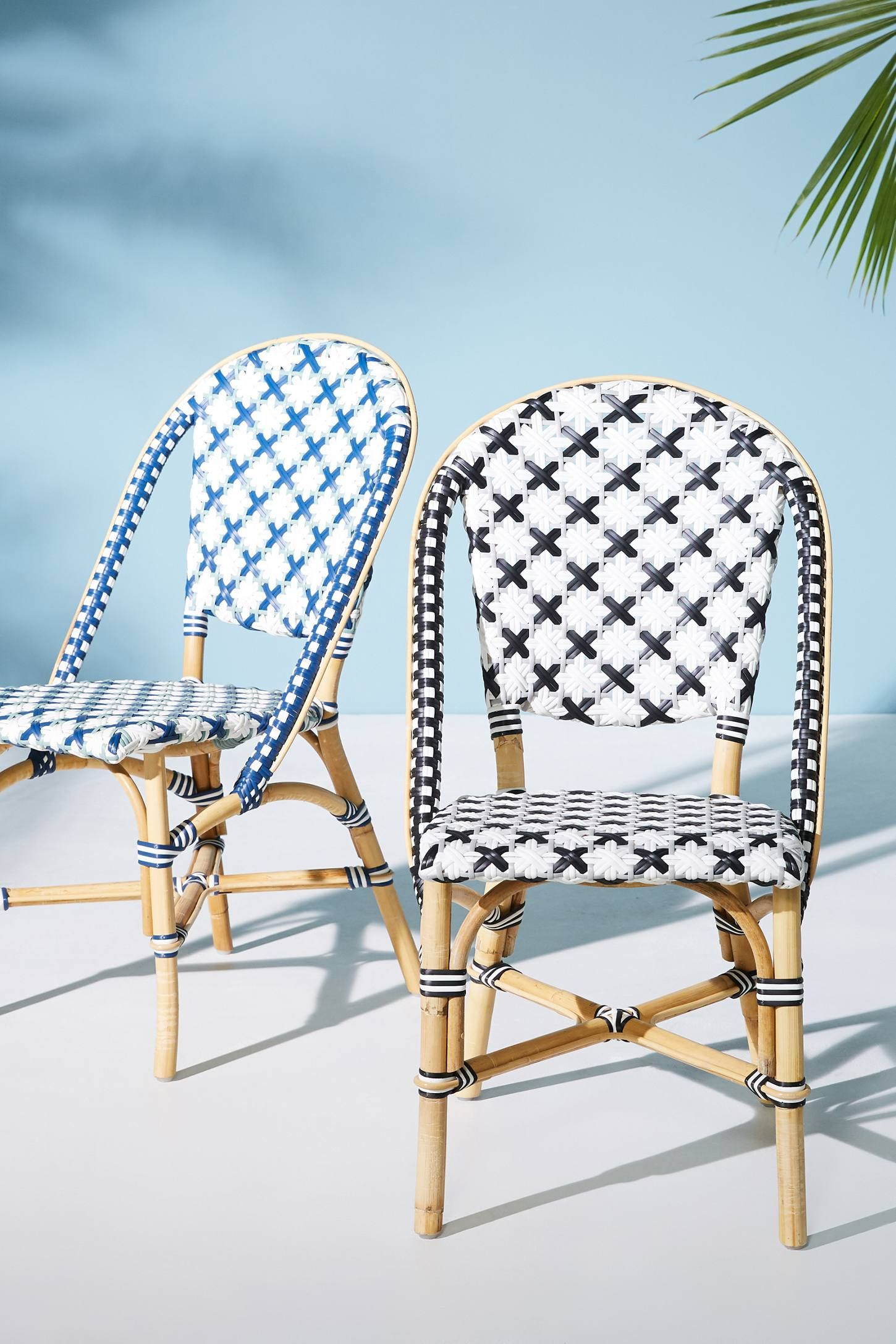 Woven Bistro Dining Chair Bistro Chairs Patio Furnishings