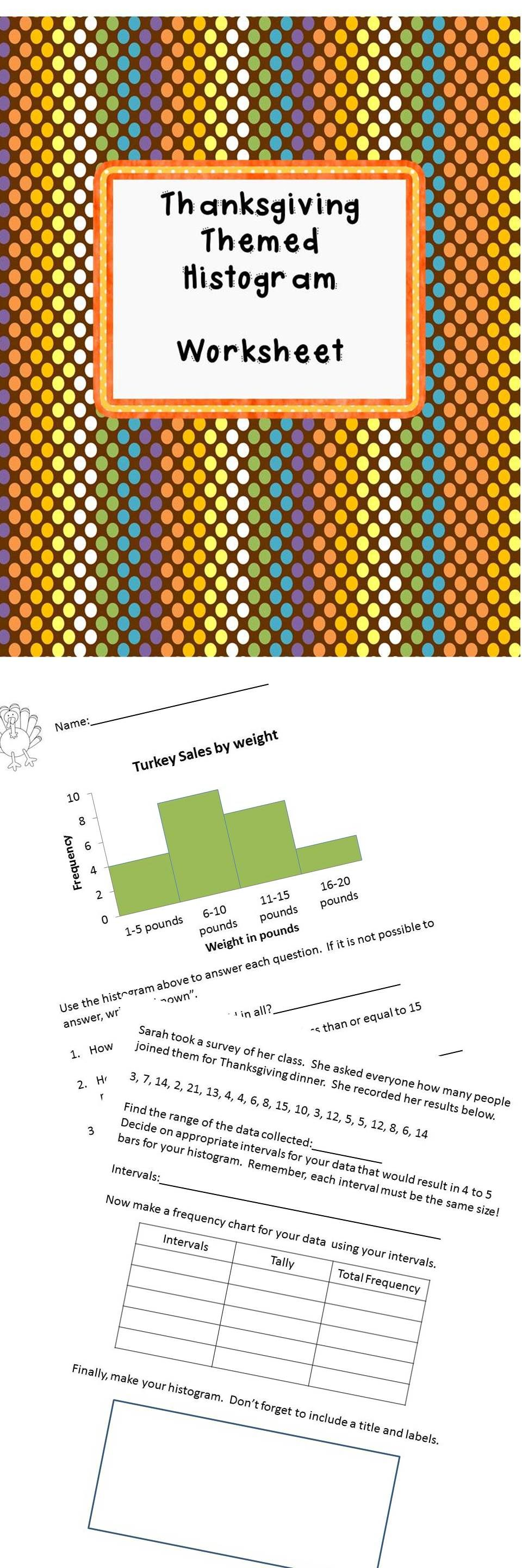 Worksheets Histogram Worksheet histogram worksheet 6 sp b 4 thanksgiving thankful for and 4