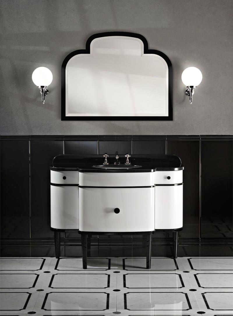 Black And White: Waschtisch Von Devonu0026Devon. (Foto: Devonu0026Devon) #Bad  #Waschtisch #Spiegel #Fliesen #Ideen #Dekoration #Aufbewahrung