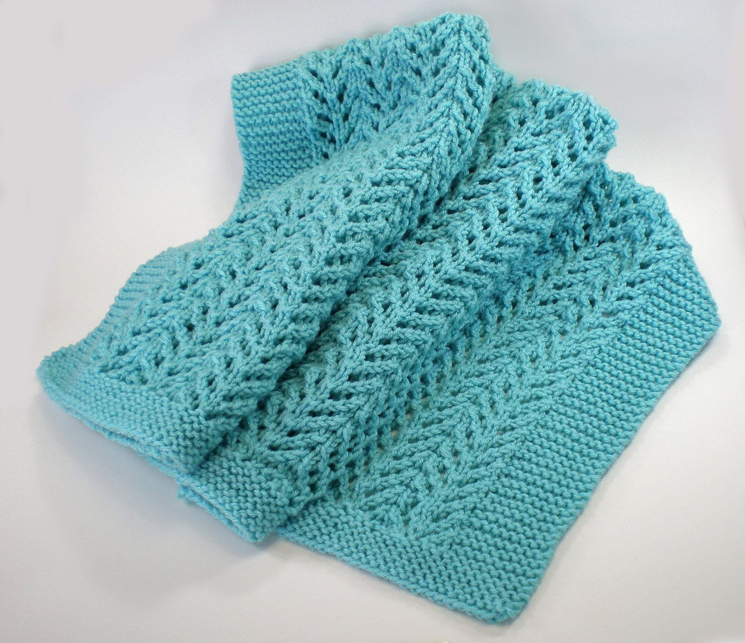 Heirloom knit baby blanket easy care machine by IKnit4You2 on Etsy ...