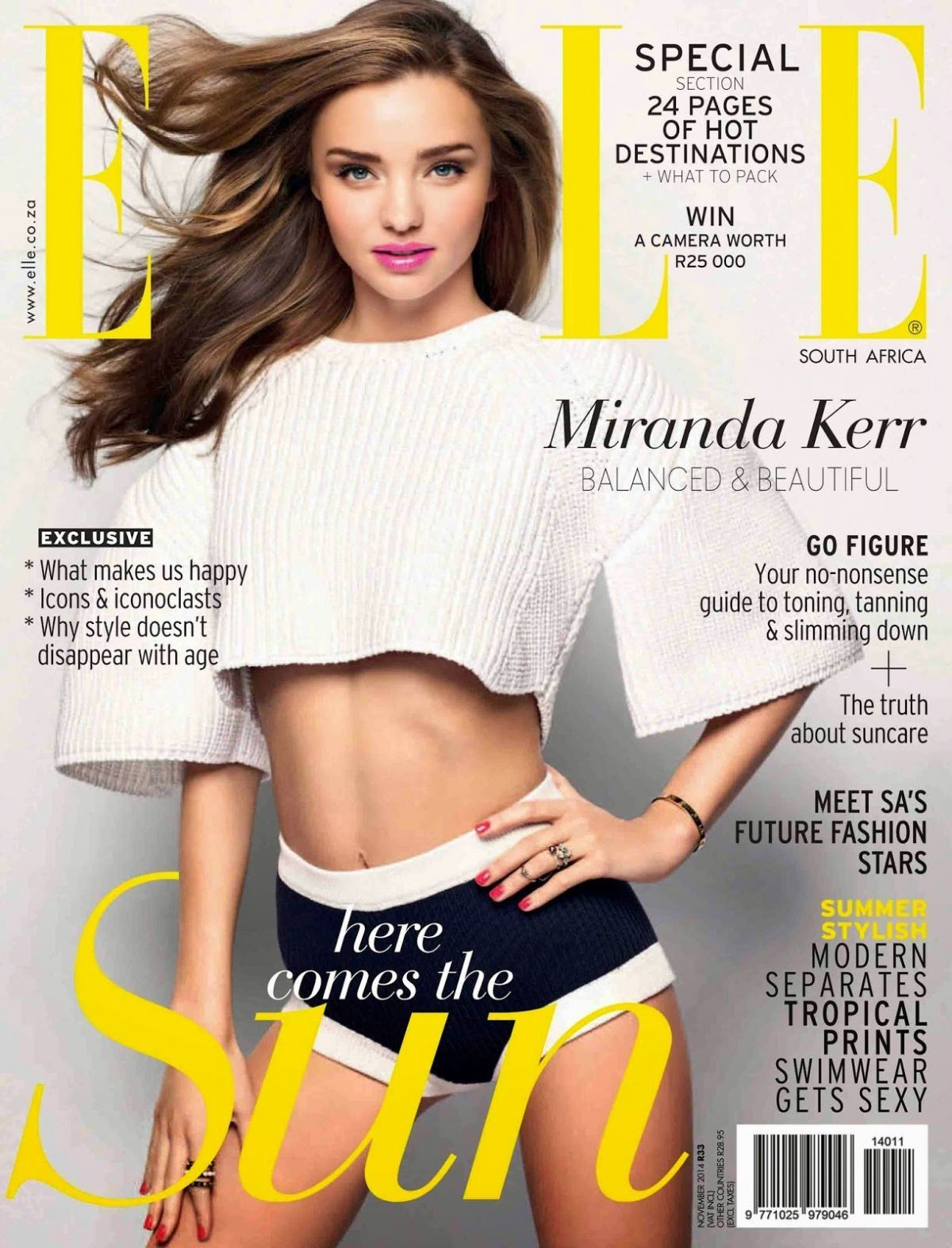 Miranda Kerr cover and story for ELLE Magazine South Africa…