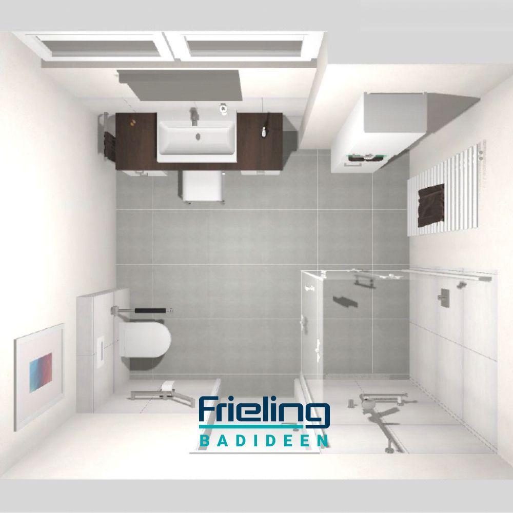 Das Barrierefreie Bad Mit Dusche 3d Planung Vogelperspektive 3dplanung Bad Badezimmerr 2020
