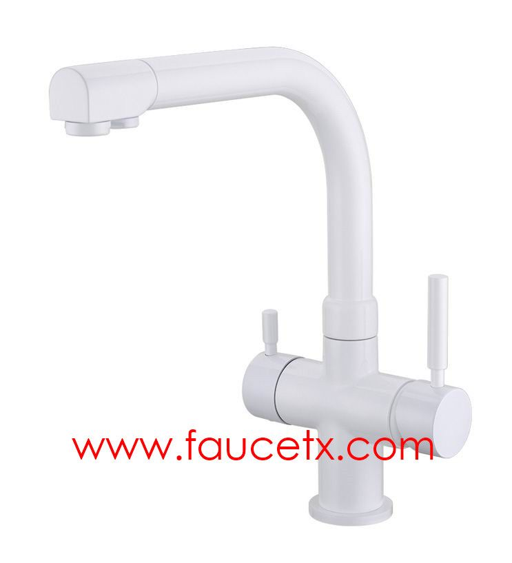 Rolya Ice Cream Beige 3 Way Kitchen Faucet Professional Manufacturer |  Osmosis Reverse Three Way Water