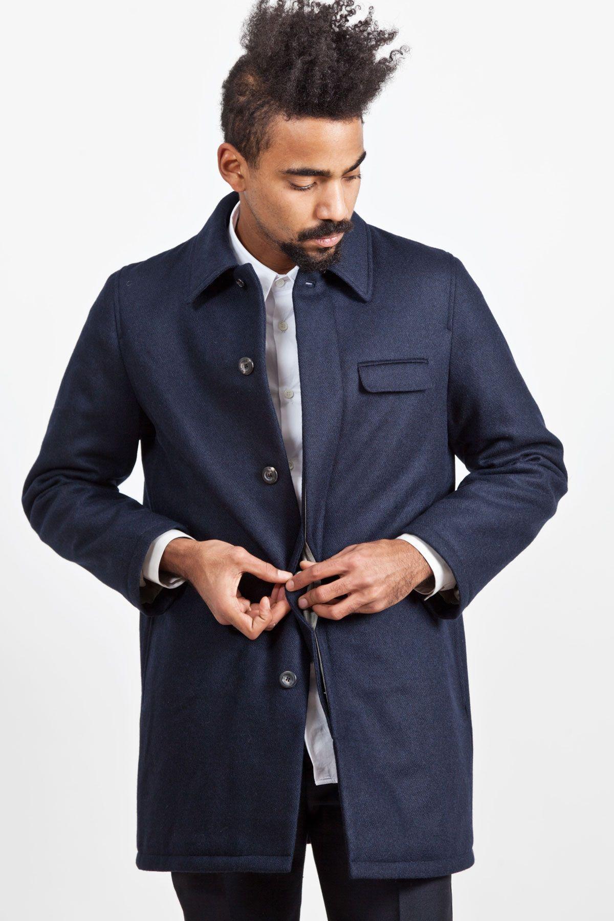 A.P.C. - Wool Mac Coat Navy - TRÈS BIEN | stil | Pinterest | Macs