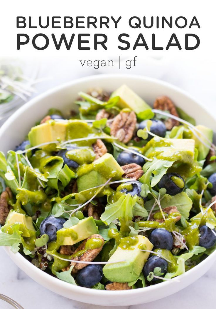 You'll LOVE this healthy Blueberry Quinoa Power Salad recipe! So easy to make an...  - Fitness-Sala