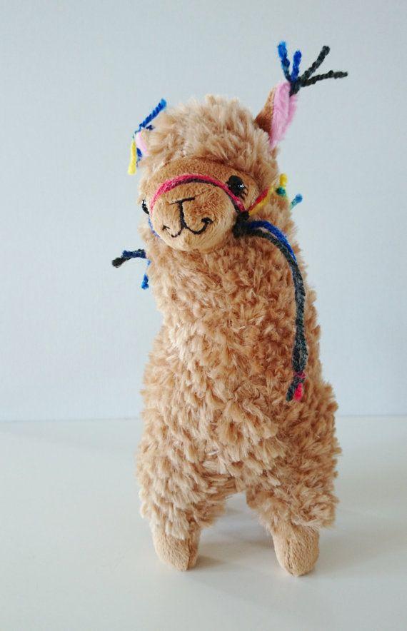 Plush Llama Little Llama Decorated With Tassles Just Like The