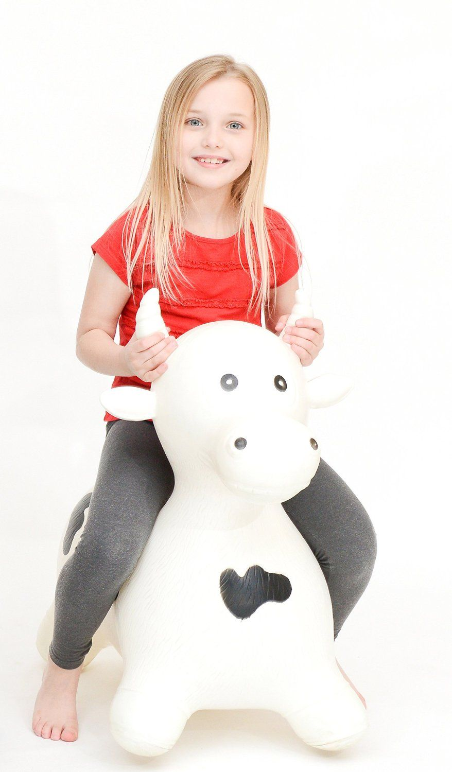 Riding Toys Age 5 : Happy hopperz bouncy ride on toy extra large white bull