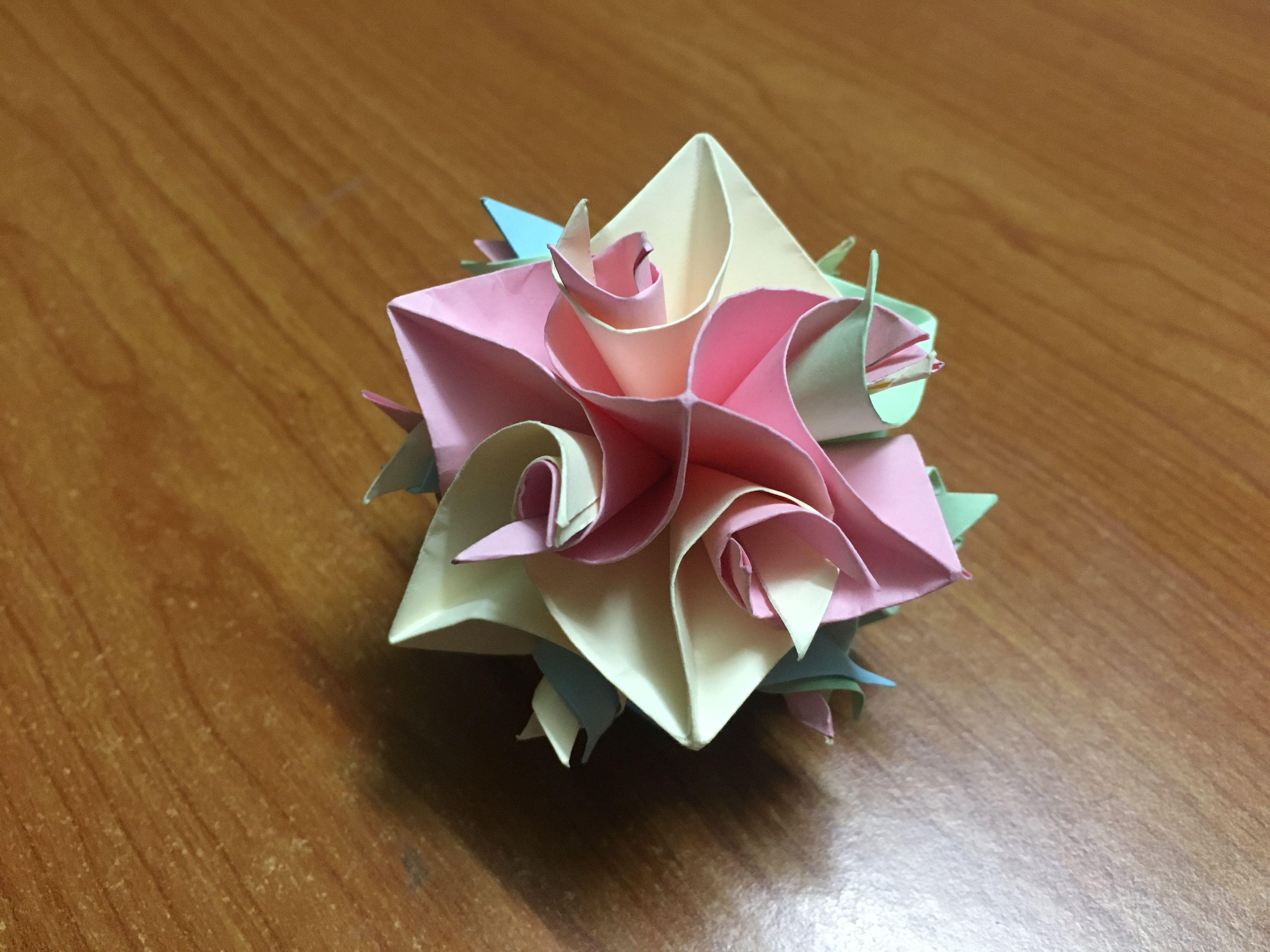 How To Make Origami Curler Cuboctahedron Diy Craft Flower Paper