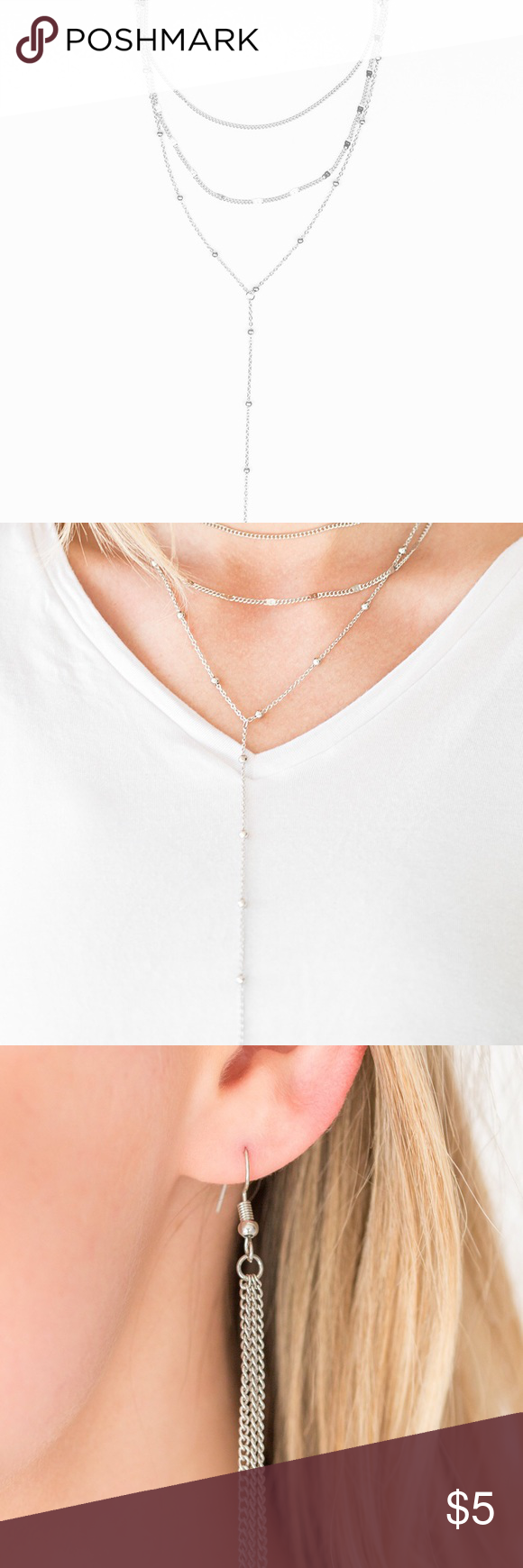 Paparazzi Think Like A Minimalist Silver Necklace A Row Of Beaded Silver Chain A Plain Silv Minimalist Necklace Silver Silver Necklace Womens Jewelry Necklace