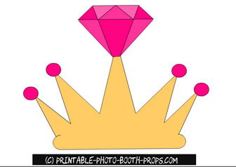 picture about Free Printable Crown referred to as Free of charge Printable Crown Prop for Bride towards Be Totally free Printable
