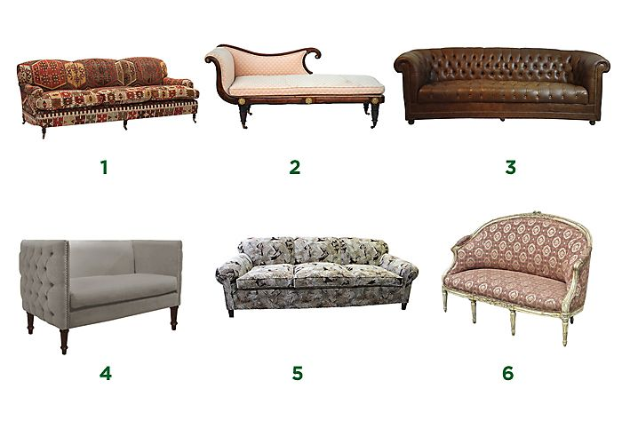A Guide to Types and Styles of Sofas & Settees. 1) English rolled-