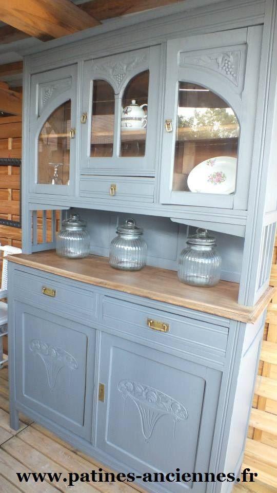 vaisselier gris patines anciennes pinterest vaisselier patine et. Black Bedroom Furniture Sets. Home Design Ideas