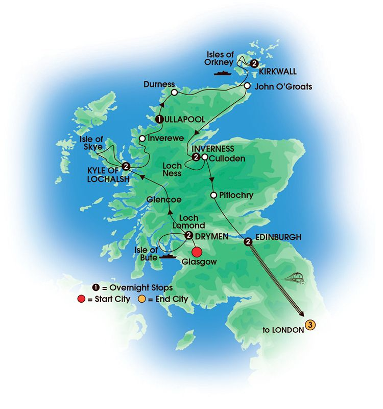 Scottish Isles & Glens with London 15 Day Tour. Overnights: 2 ...