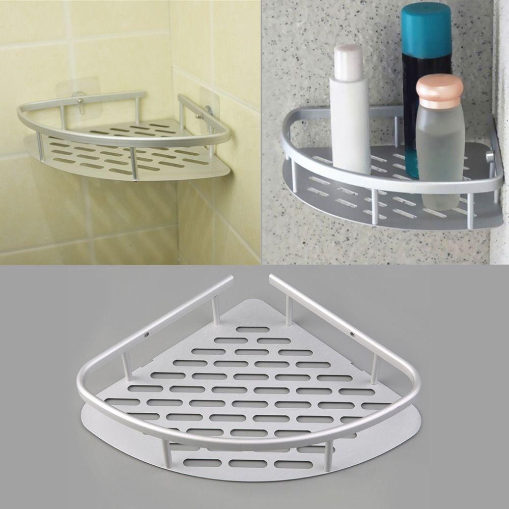 1 pcs Aluminum Shower Wall Mount Corner Shelf Holder Bathroom ...