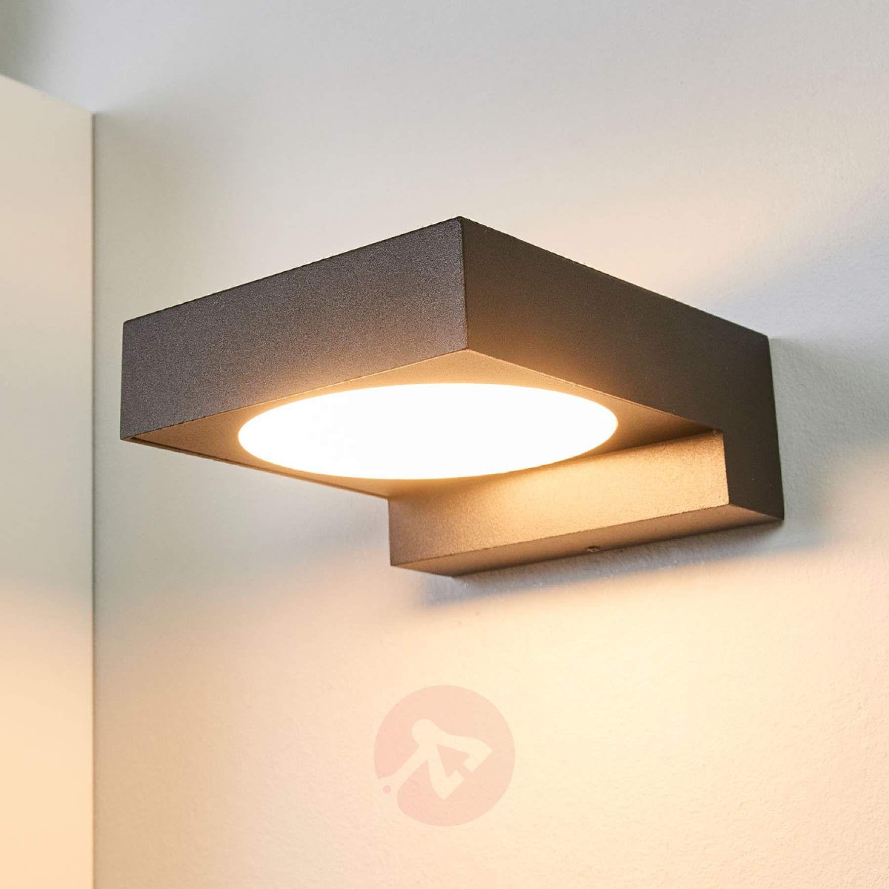 Schwarze Led Aussenwandlampe Natalja Kaufen Lampenwelt De In 2020 Aussenwandlampen Lampe Lampendesign