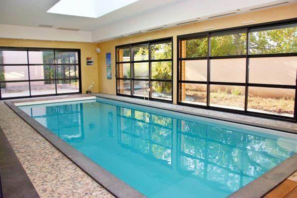 Concrete Indoor Swimming Pool Lyon Piscines Carre Bleu Binnenzwembad Binnenzwembaden Overdekt Zwembad