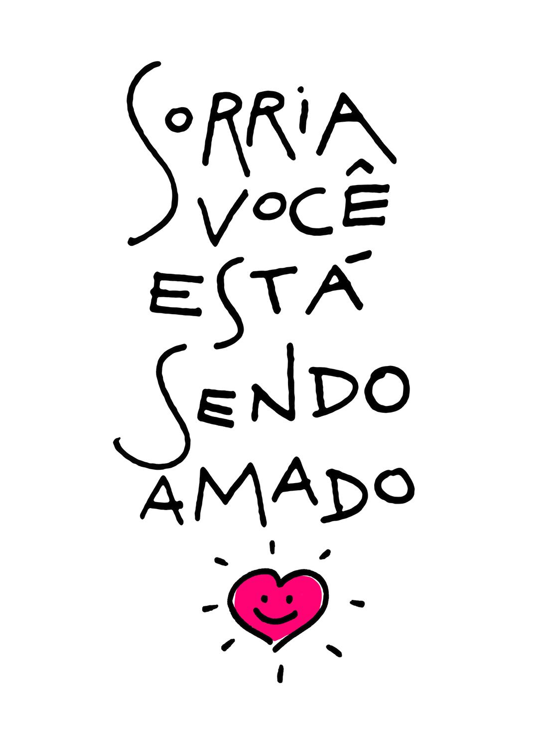 Sorria Você Está Sendo Amado Frases Pinterest Sorrindo Ser
