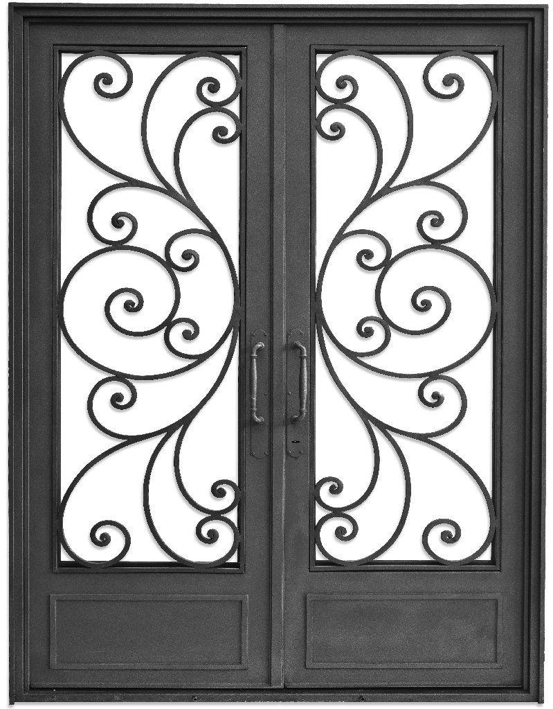 Puerta doble hoja recta gardenia del hierro design for Piscina puerta del hierro