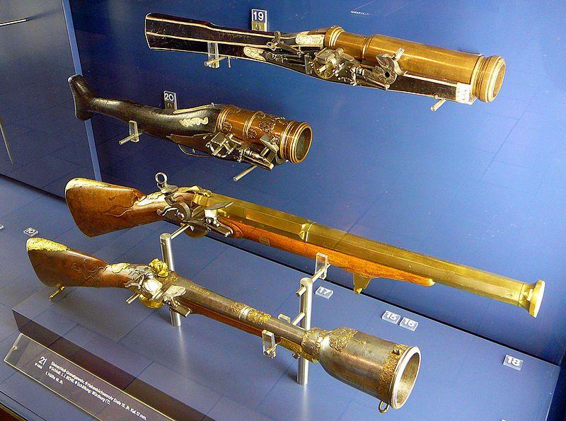 Wheellock and flintlock grenade launchers