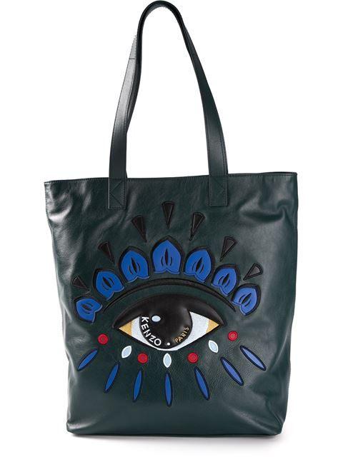 884ae5906cb0 Kenzo Embroidered Eye Tote - Elite - Farfetch.com Designer Bags On Sale