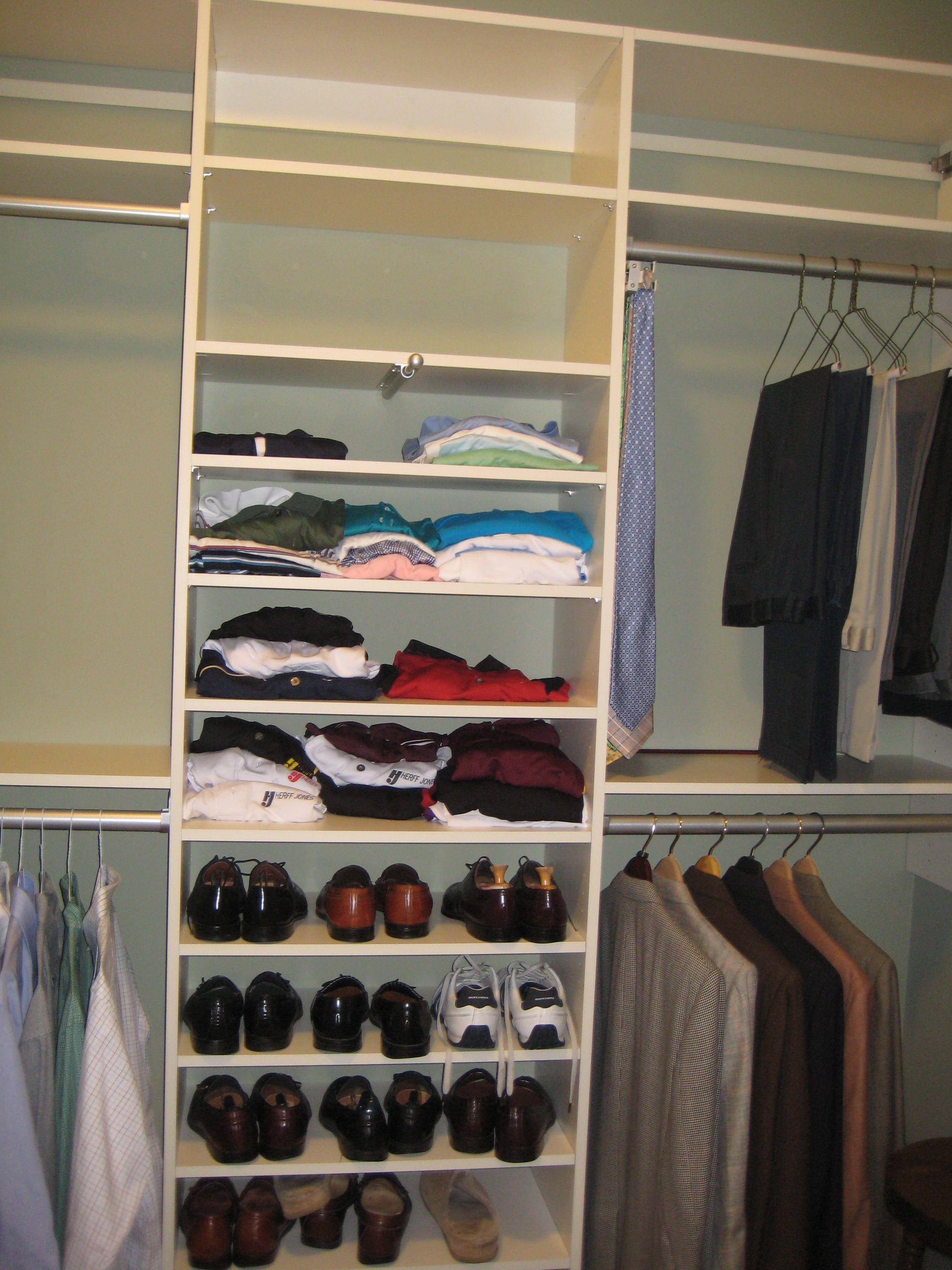 Atlanta Master Closet: His Side Victoria@404closets.com
