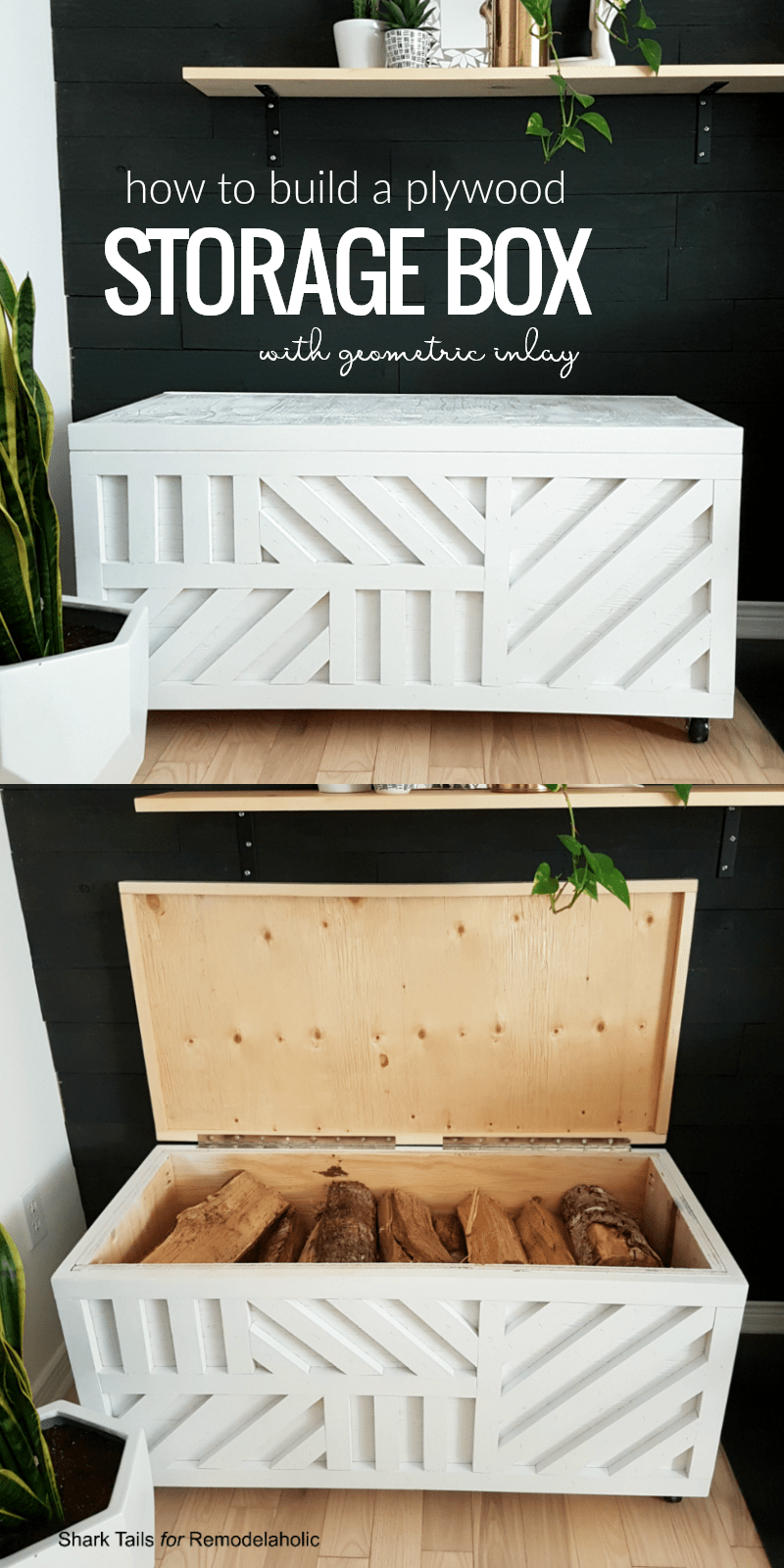 diy plywood storage box building plans for storing firewood
