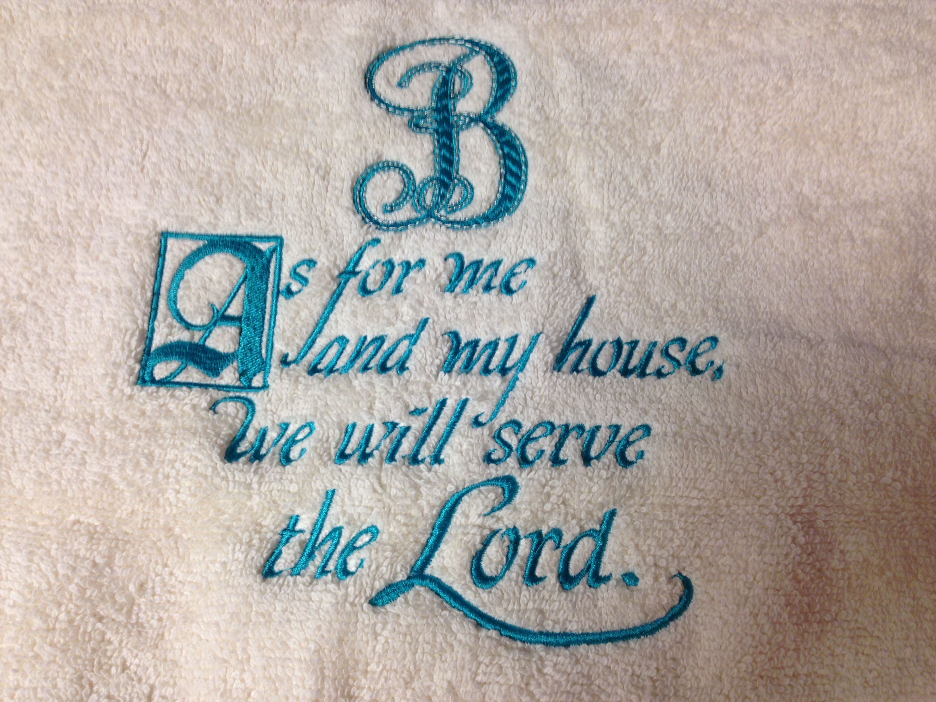 Scripture embroidery library font applique corner as for me and