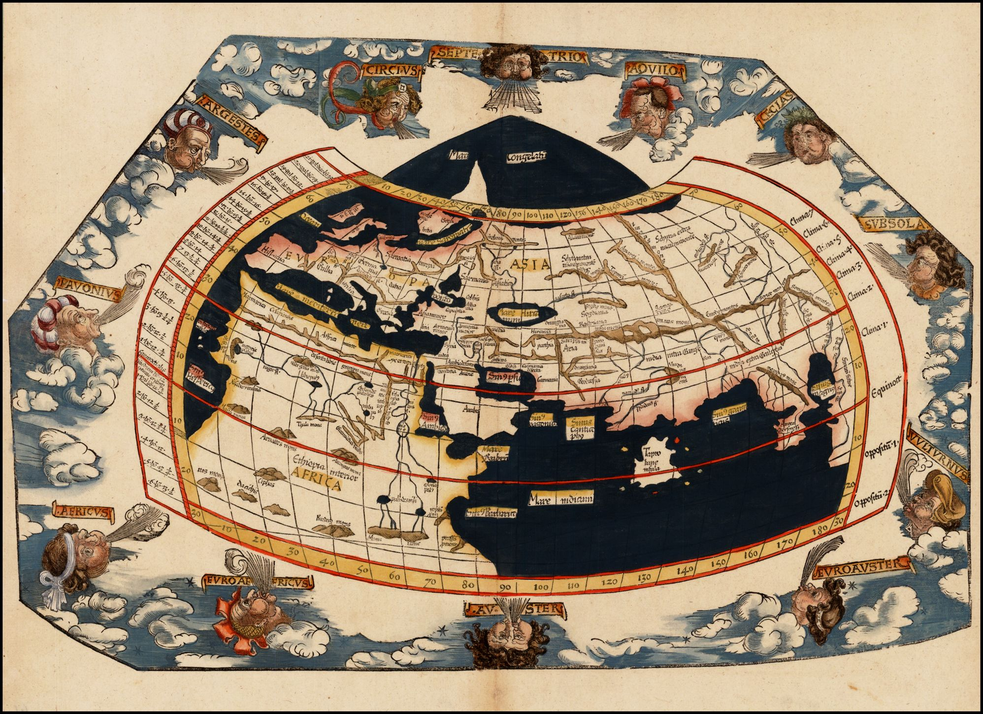 Barry lawrence ruderman antique maps inctitle untitled world map barry lawrence ruderman antique maps inctitle untitled world map map maker laurent fries place date strassbourg 1522 1535 coloring hand gumiabroncs Image collections